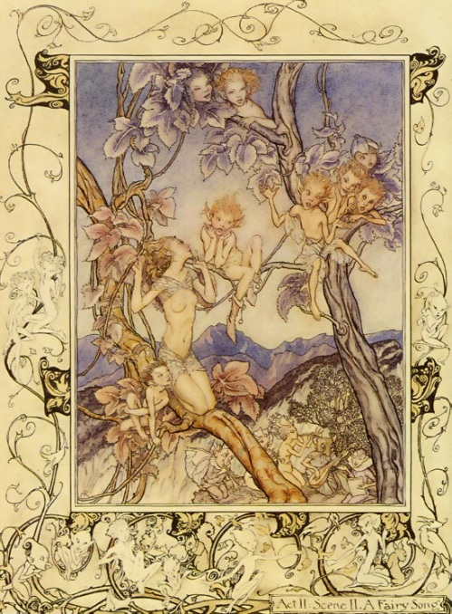 Fairy Song (from A Midsummer Night's Dream) by Arthur Rackham