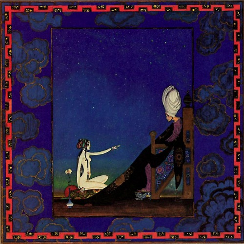 The Sultan and Scheherazade, Arabian Nights - Kay Nielsen