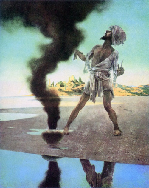 Arabian Nights : Fisherman and the Genie, Maxfield Parrish