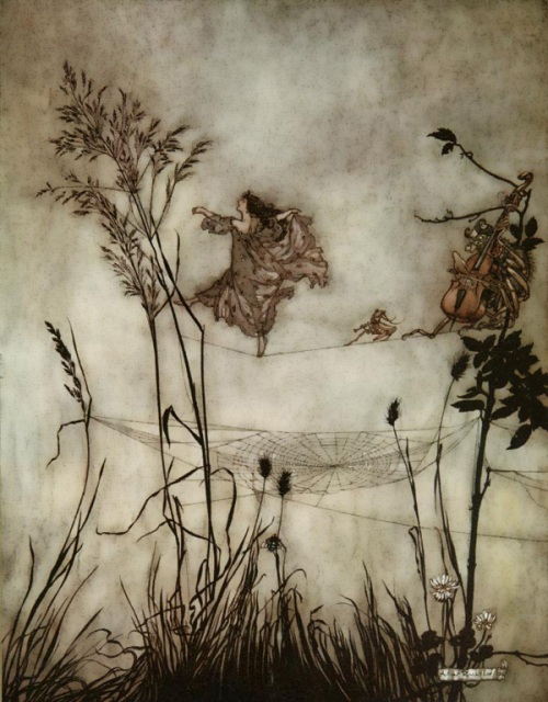 Exquisite Fairy Dancing by Arthur Rackham