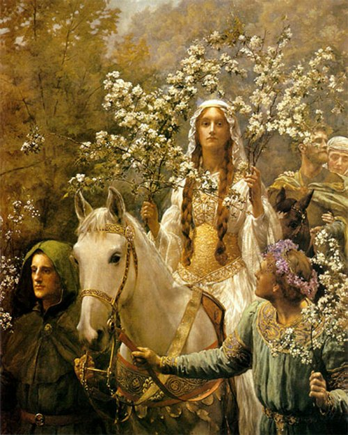 Guinevere A'Maying by John Collier