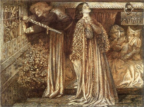 Lancelot in the Queen's Chamber by Dante Gabriel Rossetti